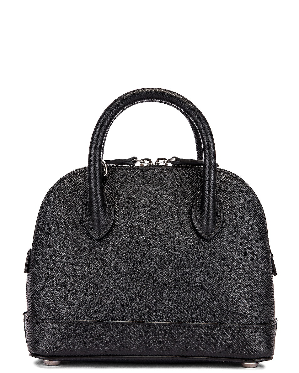 Image 3 of Balenciaga XXS Ville Top Handle Bag in Black & Black