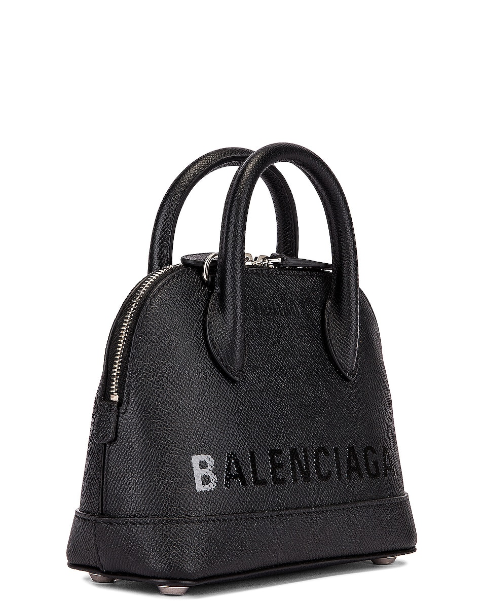 Image 4 of Balenciaga XXS Ville Top Handle Bag in Black & Black