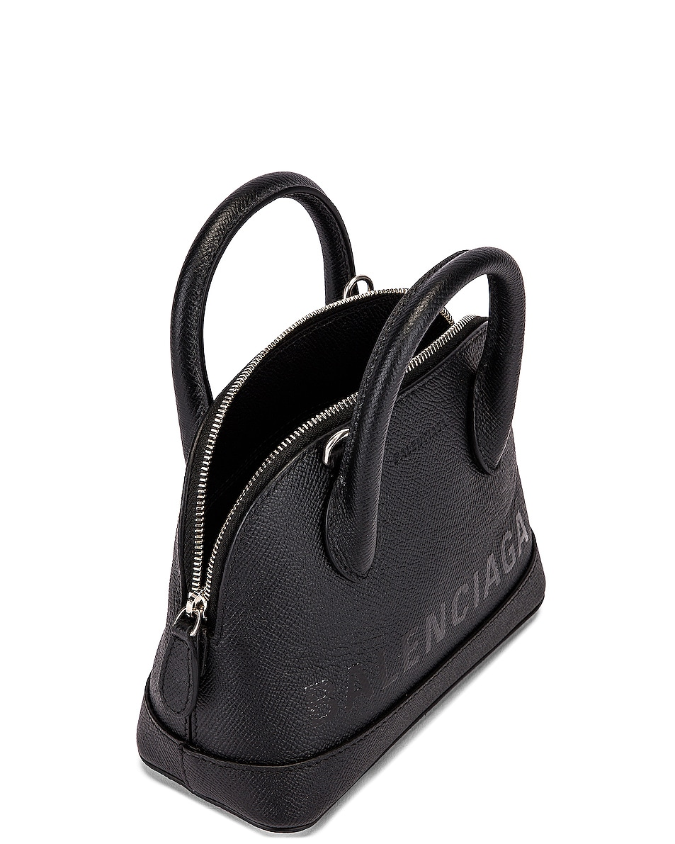 Image 5 of Balenciaga XXS Ville Top Handle Bag in Black & Black