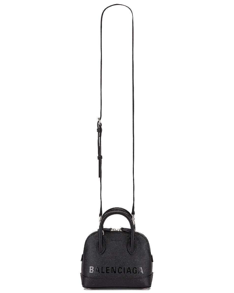 Image 6 of Balenciaga XXS Ville Top Handle Bag in Black & Black