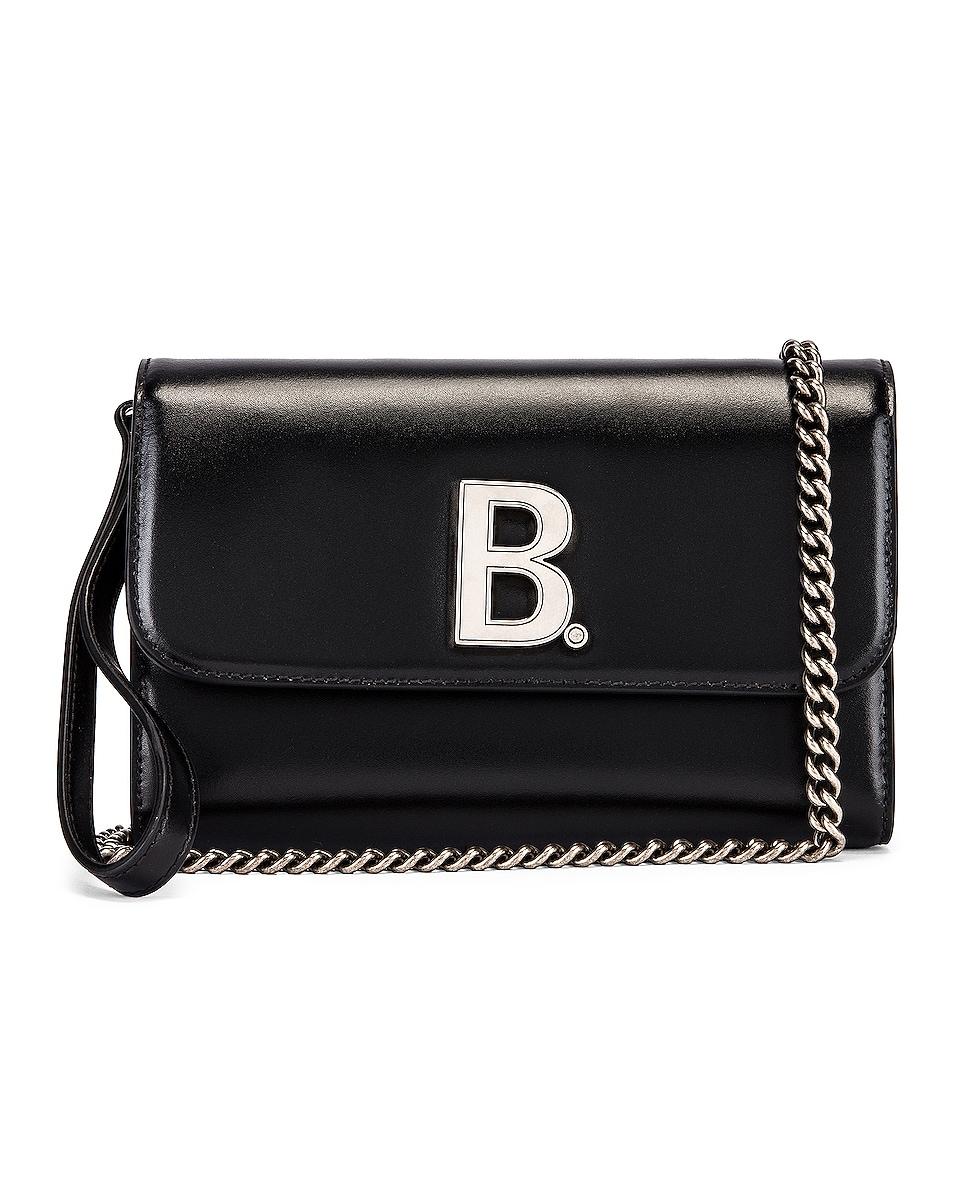 Image 1 of Balenciaga B Continental Chain Bag in Black