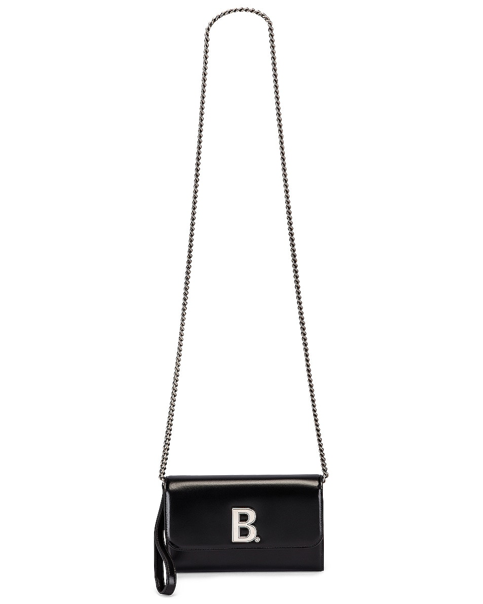 Image 6 of Balenciaga B Continental Chain Bag in Black