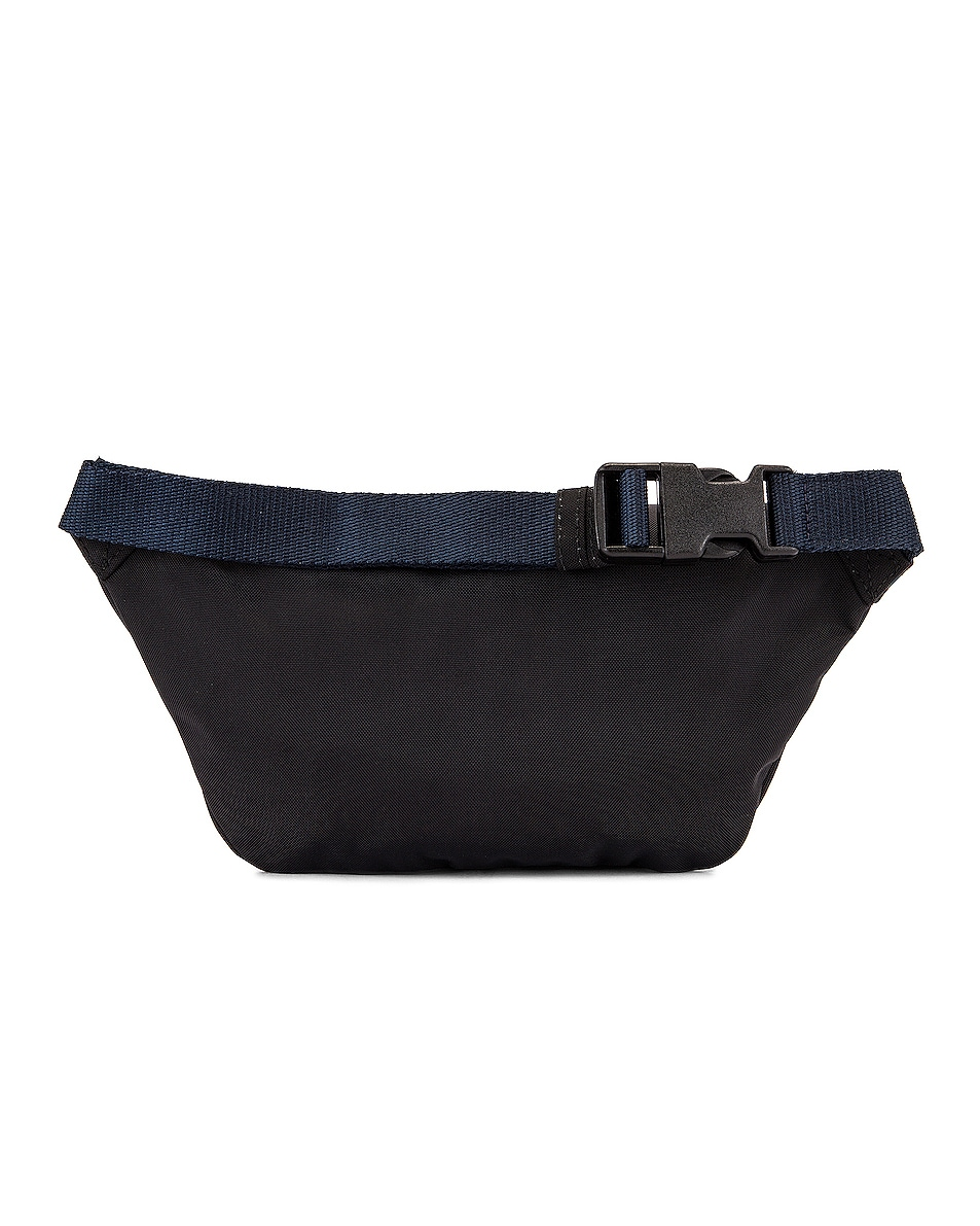 Image 3 of Balenciaga S Wheel Logo Belt Bag in Black & Navy Blue