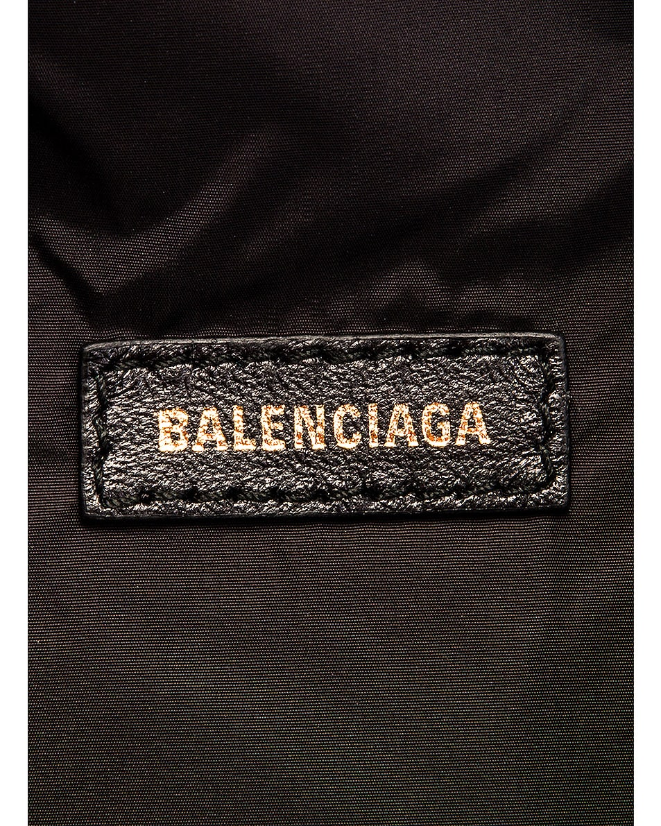 Image 6 of Balenciaga S Wheel Logo Belt Bag in Black & Navy Blue