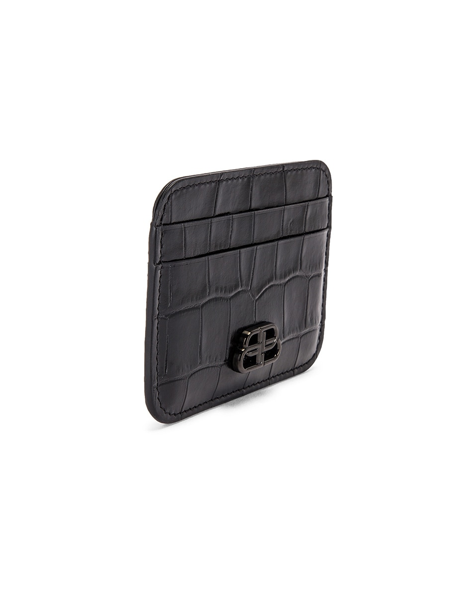 Image 3 of Balenciaga BB Card Holder in Black