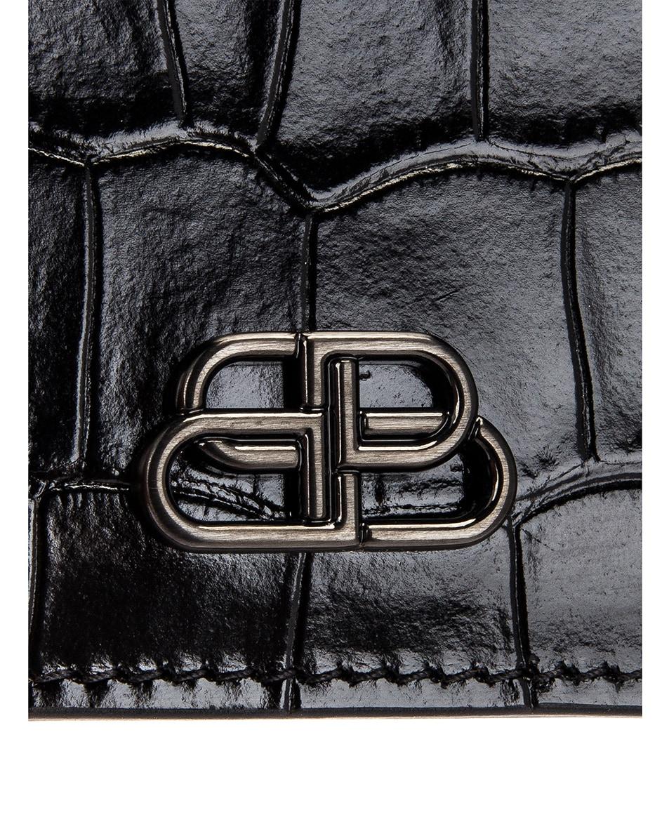 Image 6 of Balenciaga BB Card Holder in Black
