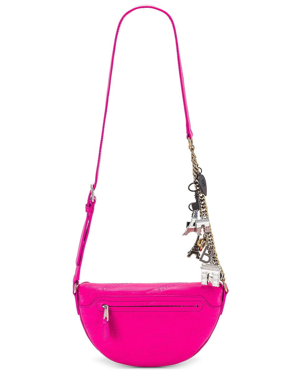 Image 3 of Balenciaga XXS Souvenir Charm Bag in Acid Fuchsia