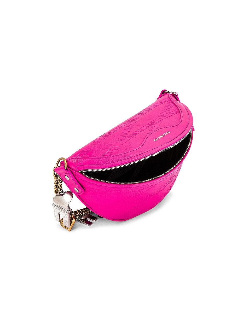 Image 5 of Balenciaga XXS Souvenir Charm Bag in Acid Fuchsia