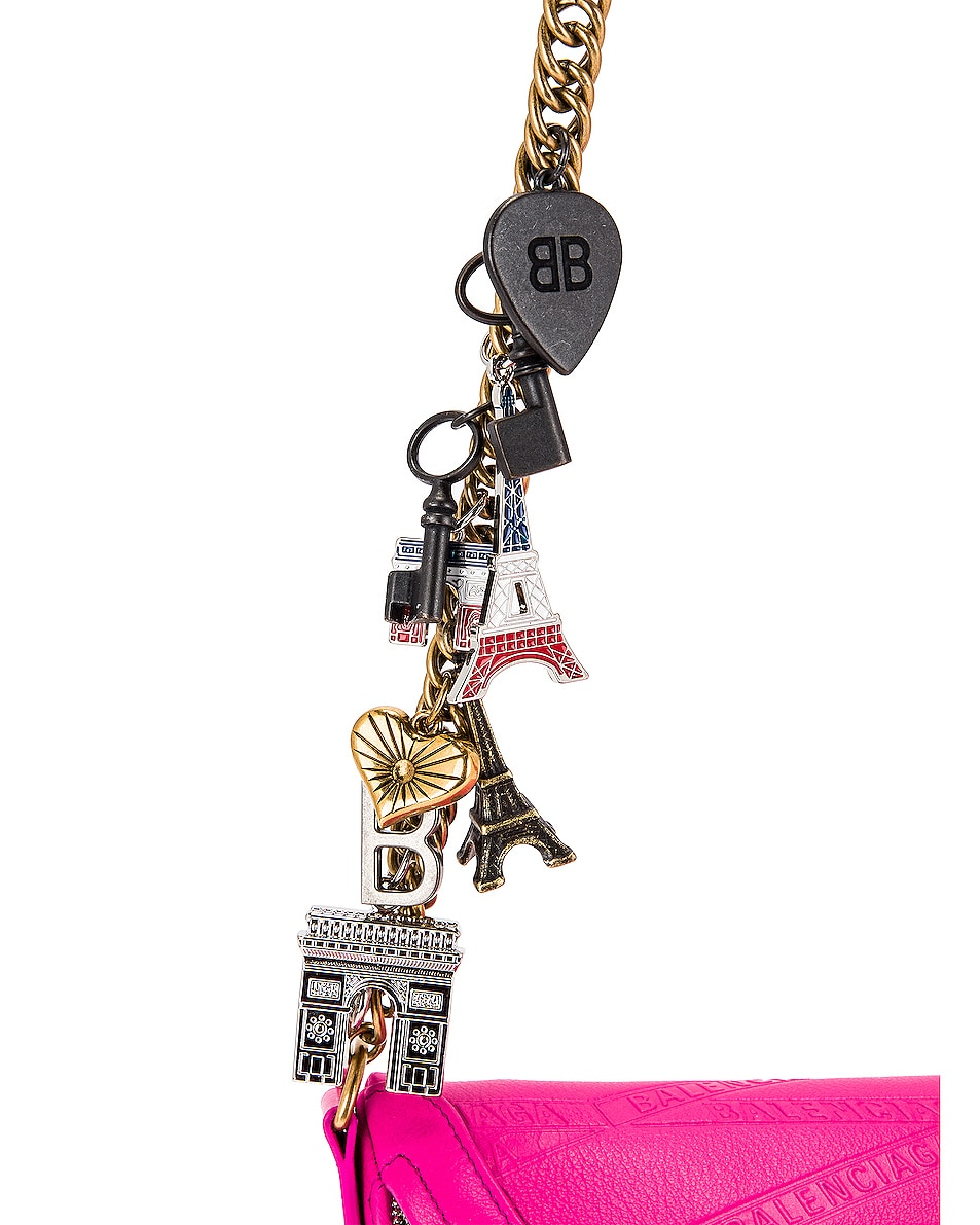 Image 7 of Balenciaga XXS Souvenir Charm Bag in Acid Fuchsia