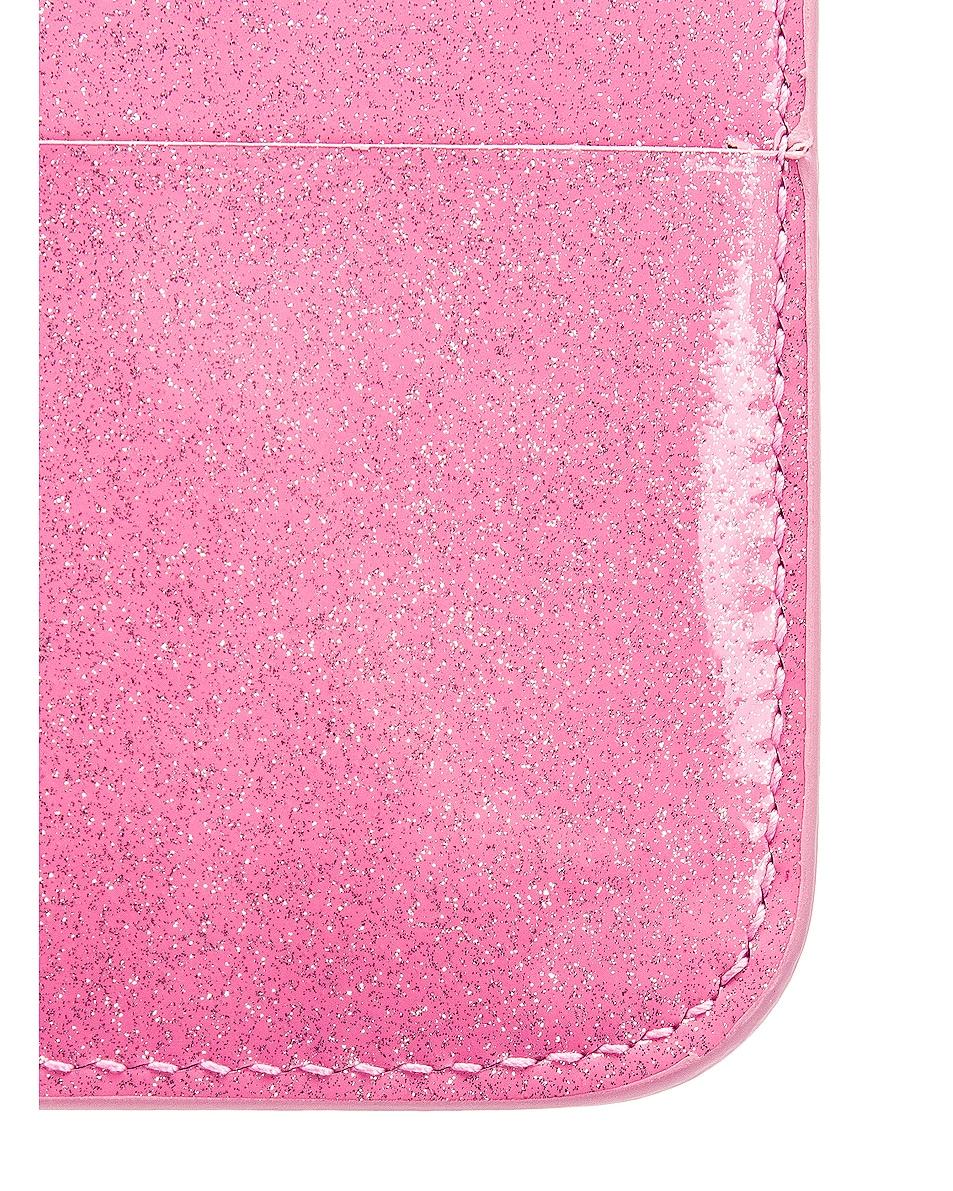 Image 6 of Balenciaga Glitter BB Card Holder in Old Rose & Black