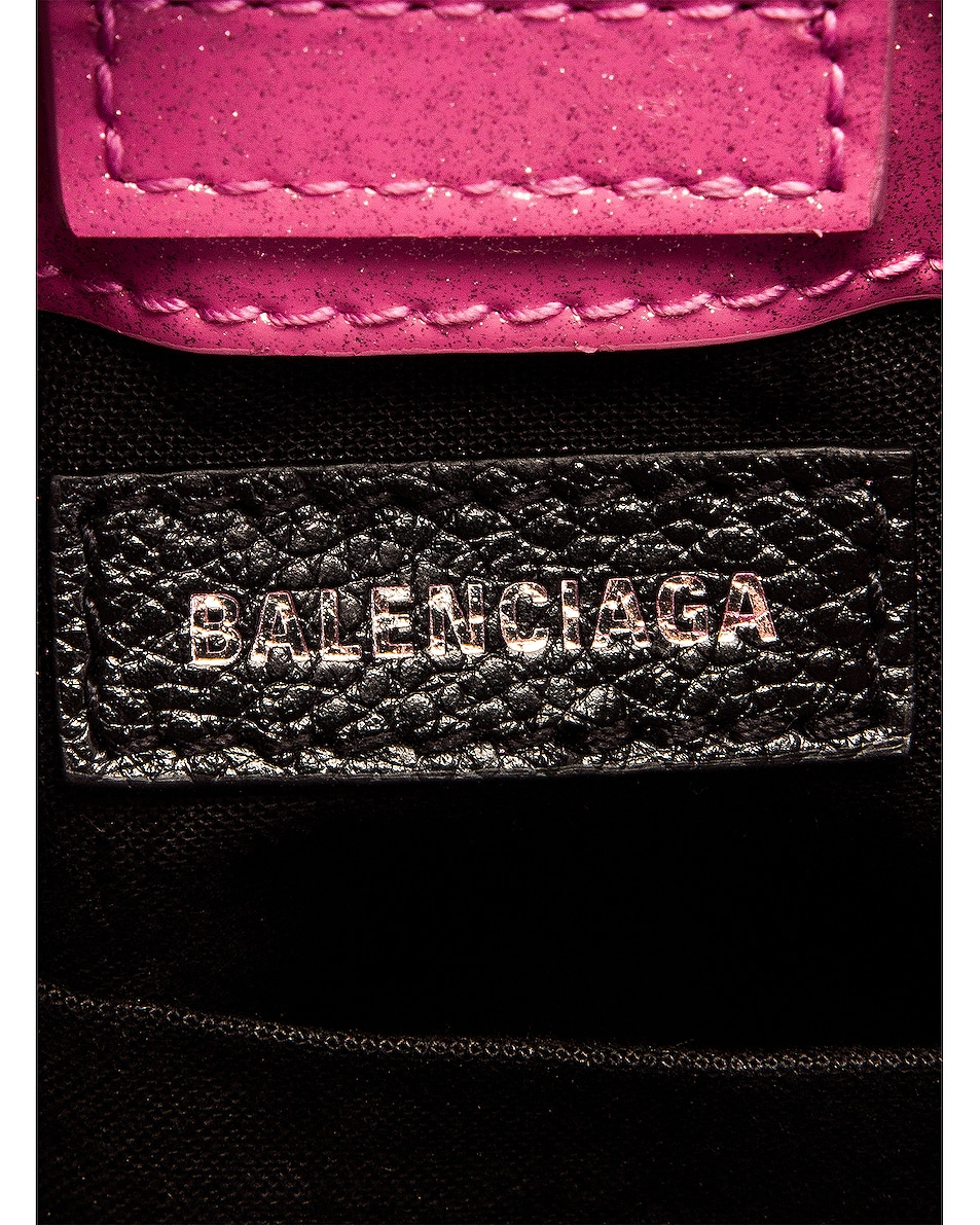 Image 7 of Balenciaga Glitter Shopping Phone on Strap Bag in Old Rose