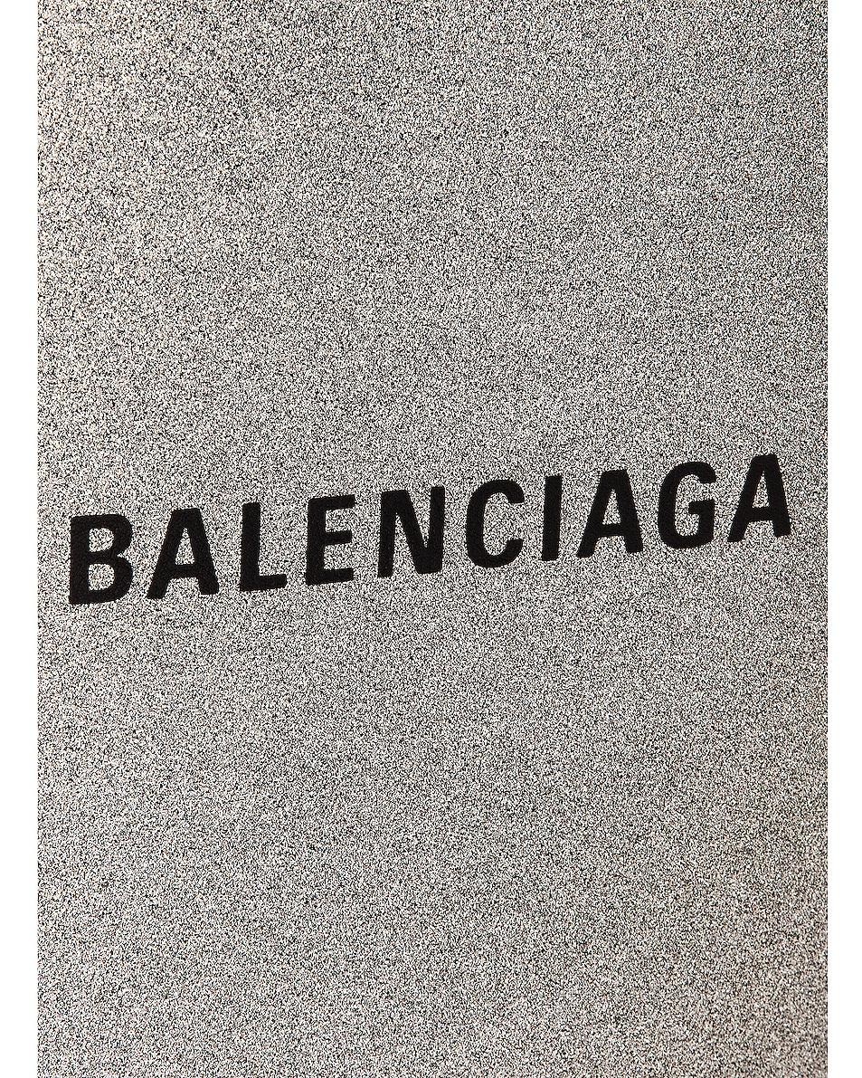 Image 8 of Balenciaga Glitter Shopping Phone on Strap Bag in Silver