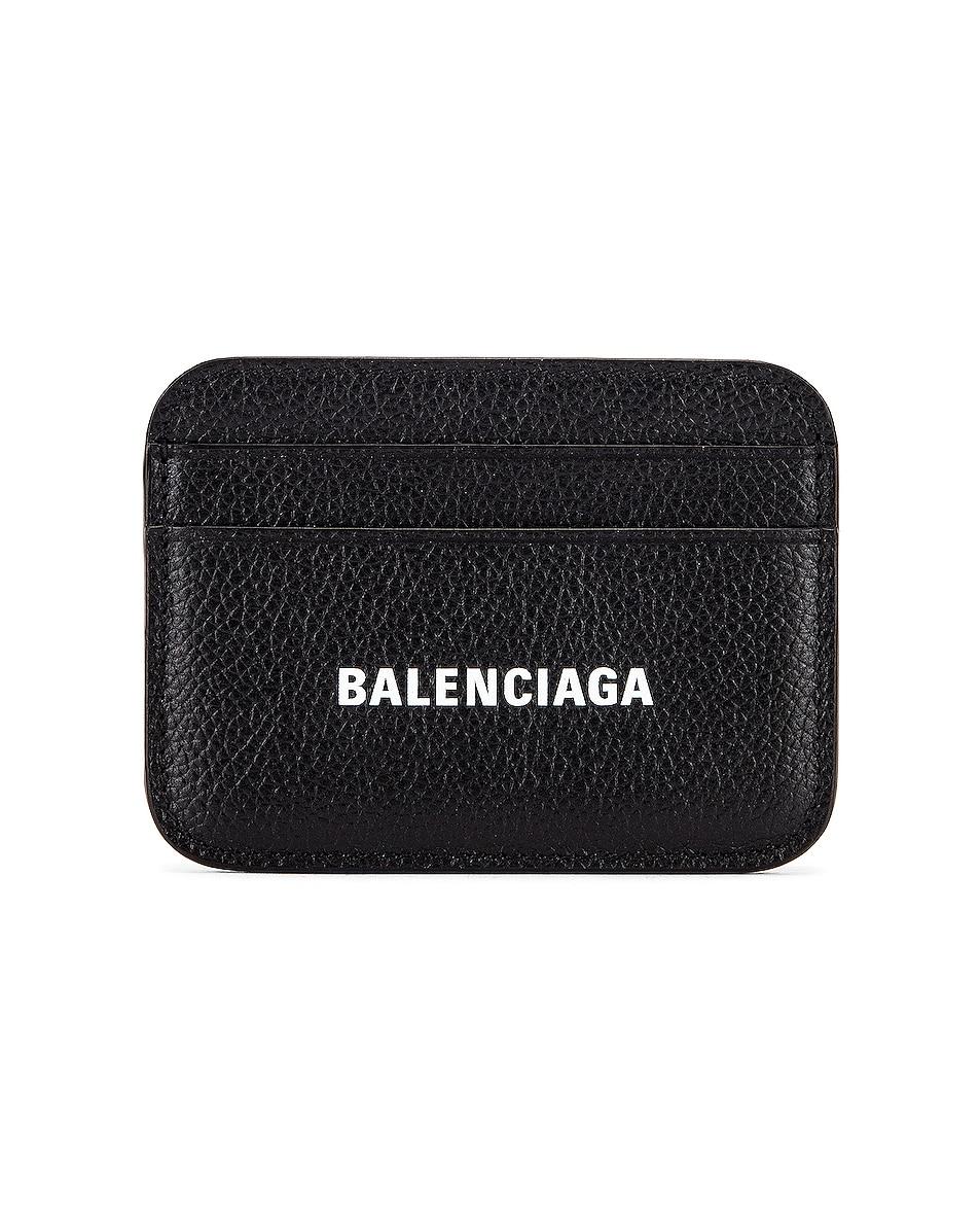 Image 1 of Balenciaga Cash Card Holder in Black & White
