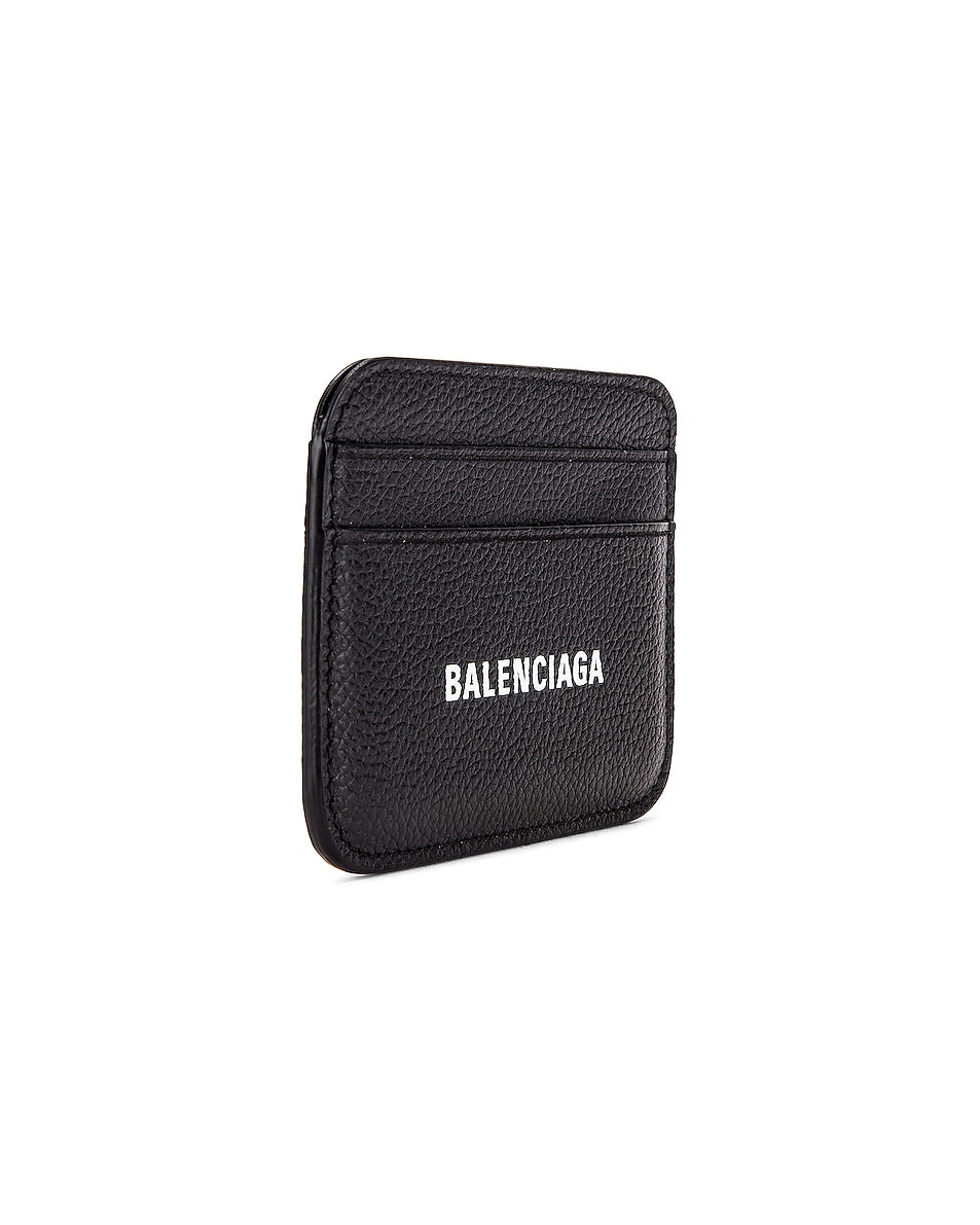 Image 3 of Balenciaga Cash Card Holder in Black & White