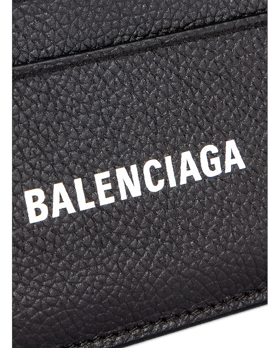 Image 5 of Balenciaga Cash Card Holder in Black & White