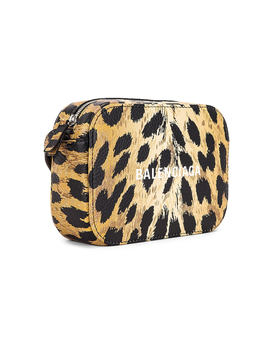 Image 4 of Balenciaga XS Leopard Everyday Camera Bag in Brown & White