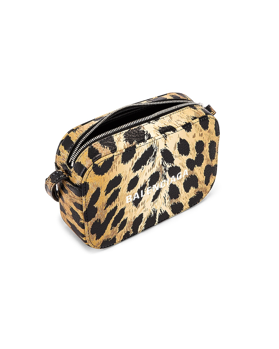 Image 5 of Balenciaga XS Leopard Everyday Camera Bag in Brown & White