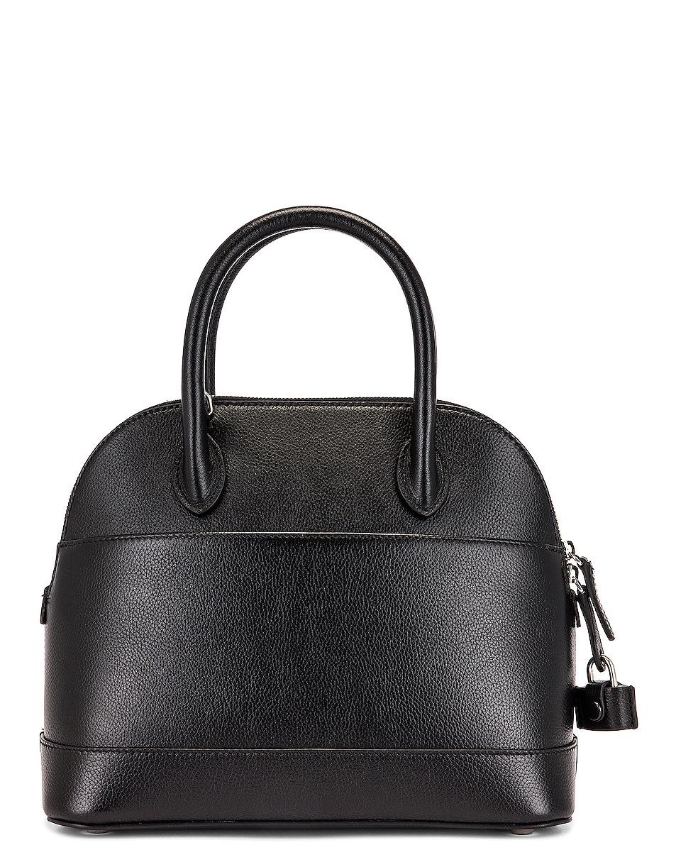 Image 3 of Balenciaga Small Logo Ville Top Handle Bag in Black & Fluo Yellow