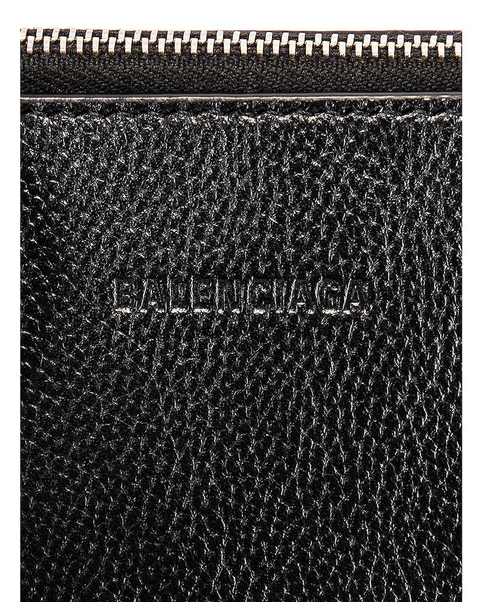 Image 8 of Balenciaga Small Logo Ville Top Handle Bag in Black & Fluo Yellow