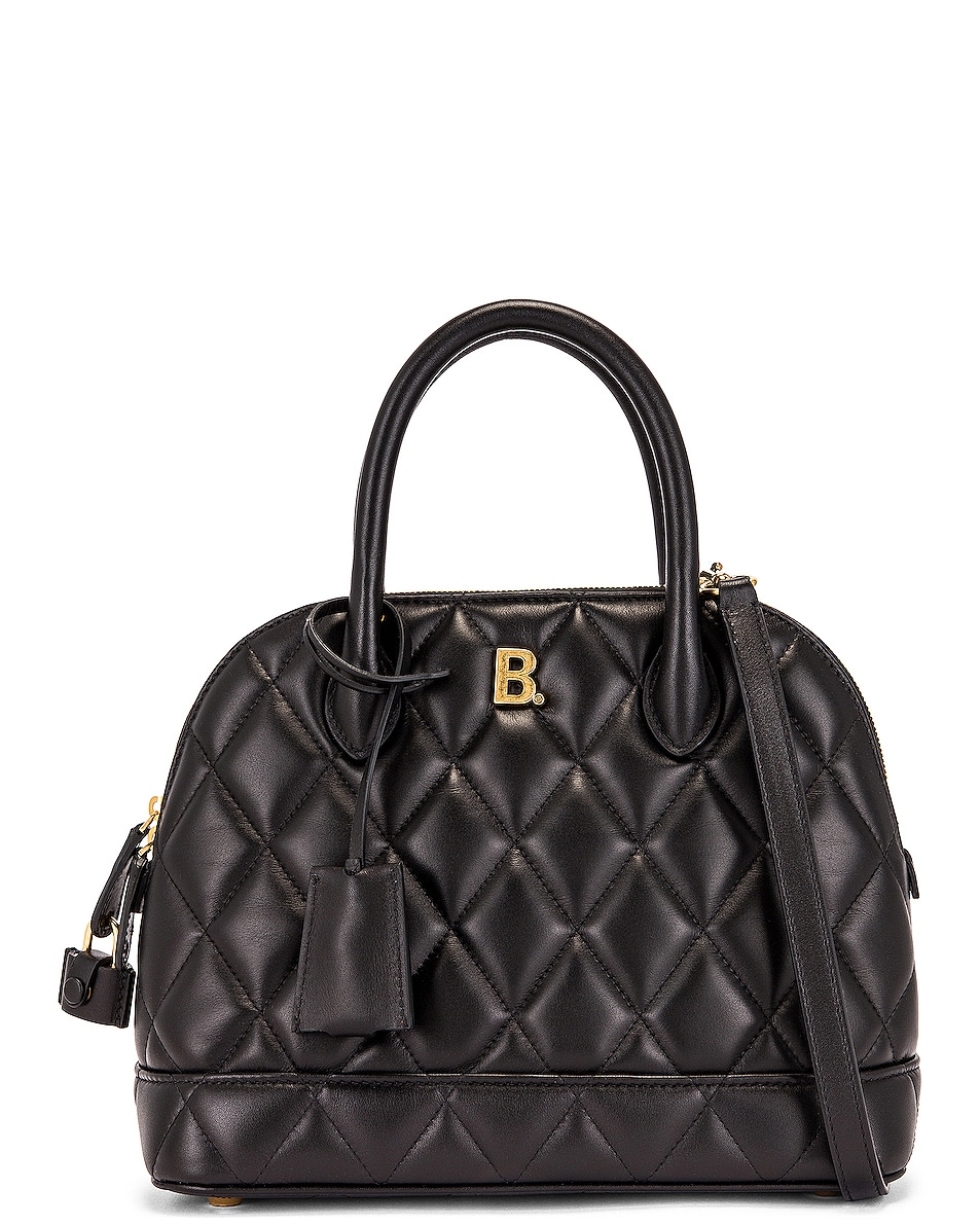 Image 1 of Balenciaga Small Quilted Leather Ville Top Handle Bag in Black