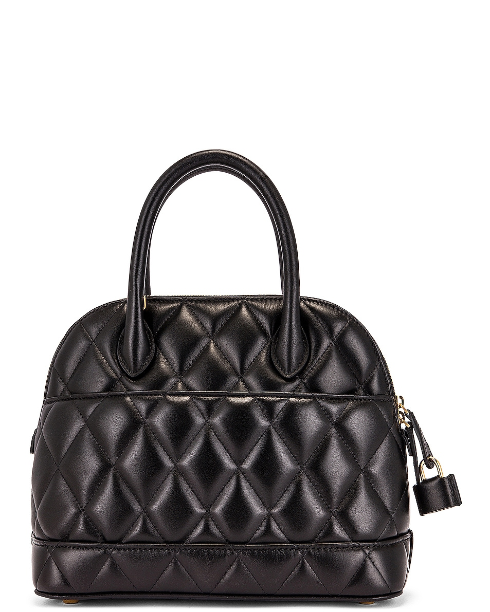 Image 3 of Balenciaga Small Quilted Leather Ville Top Handle Bag in Black
