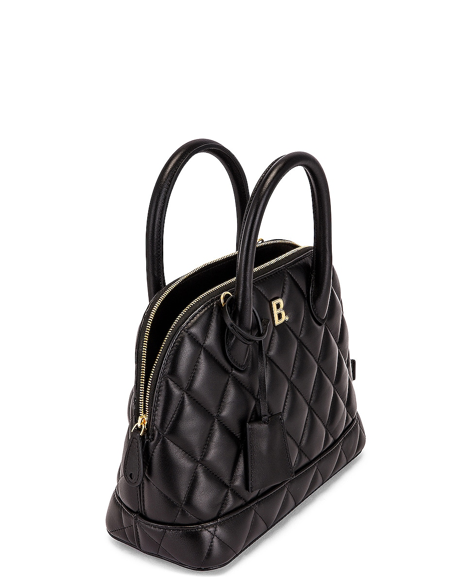 Image 5 of Balenciaga Small Quilted Leather Ville Top Handle Bag in Black