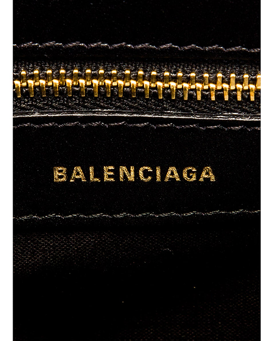 Image 7 of Balenciaga Small Quilted Leather Ville Top Handle Bag in Black