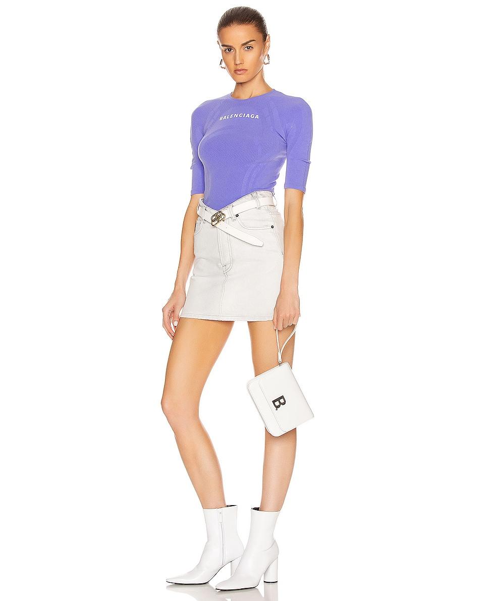 Image 2 of Balenciaga Small B Bag in White