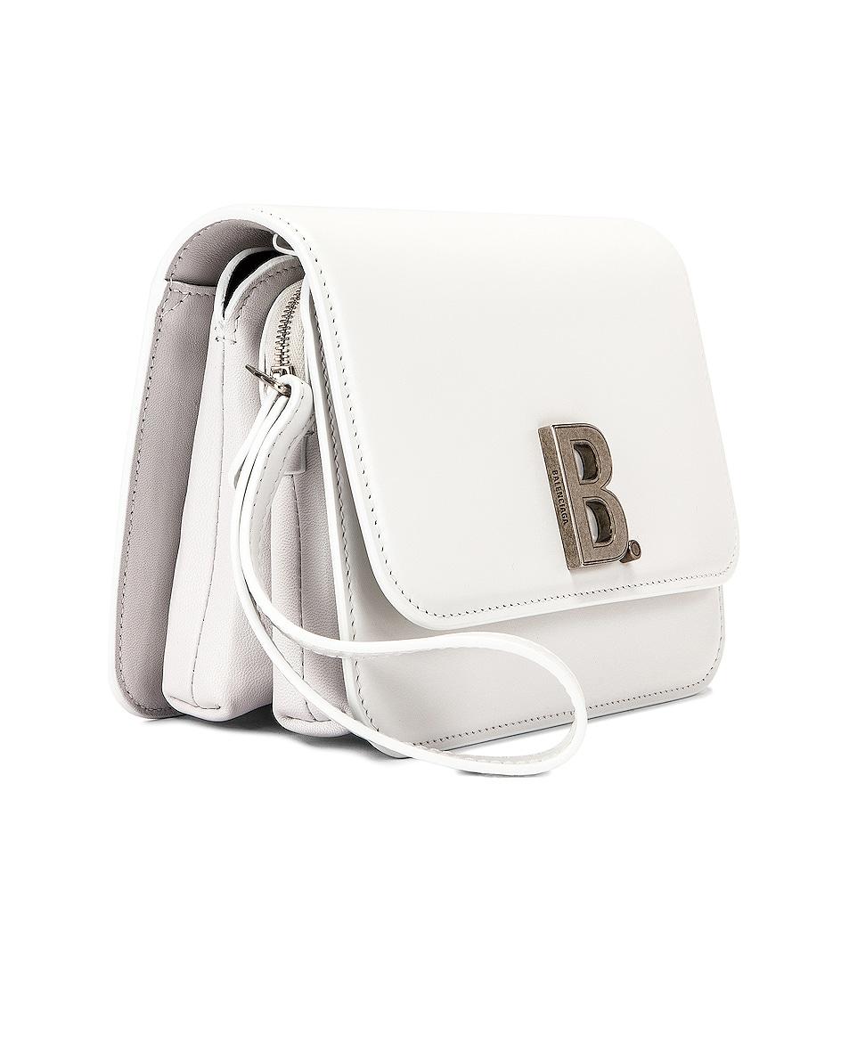 Image 4 of Balenciaga Small B Bag in White