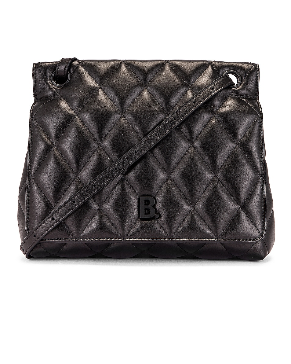 Image 1 of Balenciaga Medium Quilted Leather B Shoulder Bag in Black