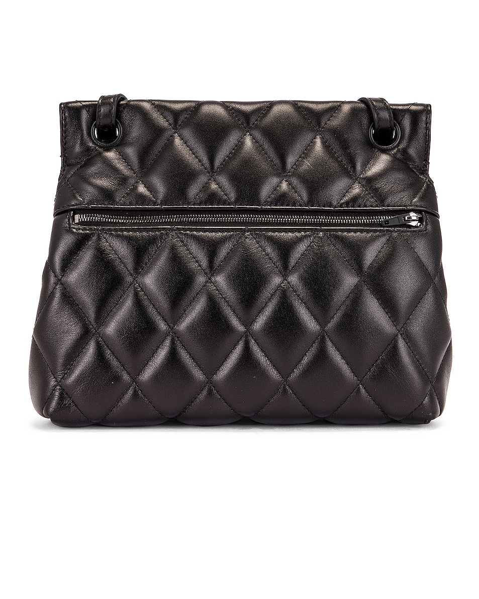 Image 3 of Balenciaga Medium Quilted Leather B Shoulder Bag in Black