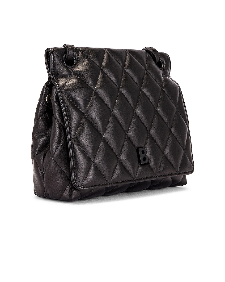 Image 4 of Balenciaga Medium Quilted Leather B Shoulder Bag in Black