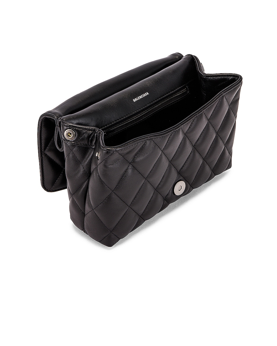 Image 5 of Balenciaga Medium Quilted Leather B Shoulder Bag in Black