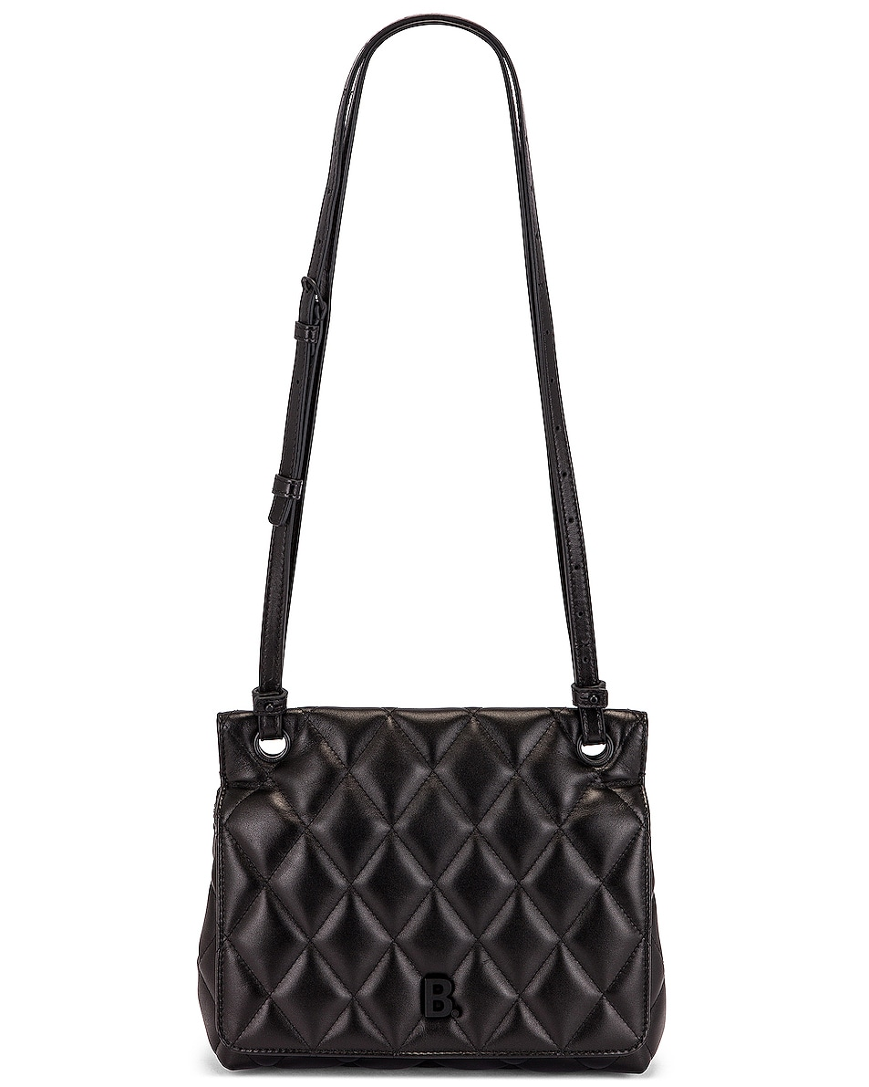 Image 6 of Balenciaga Medium Quilted Leather B Shoulder Bag in Black