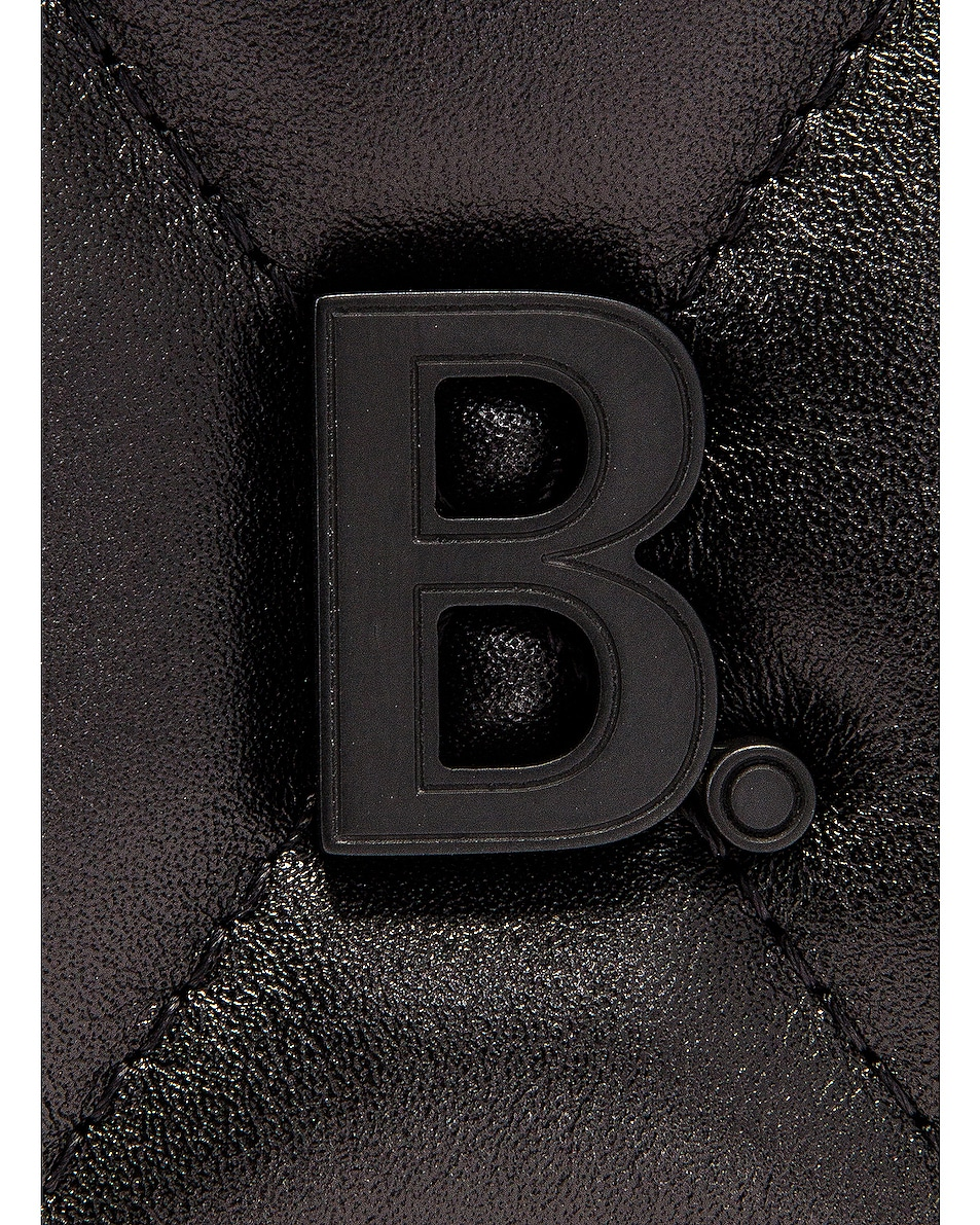 Image 8 of Balenciaga Medium Quilted Leather B Shoulder Bag in Black