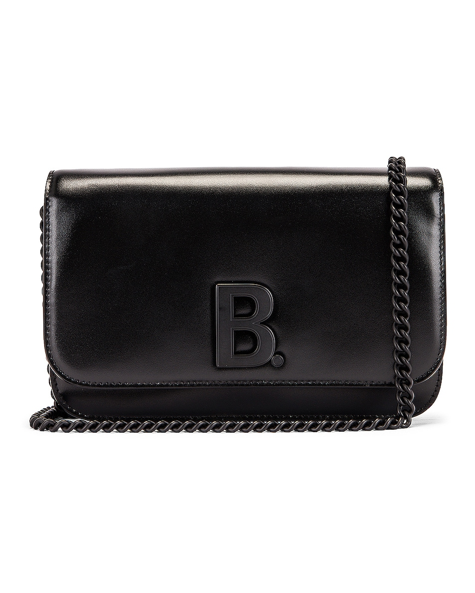 Image 1 of Balenciaga B Wallet on Chain Bag in Black