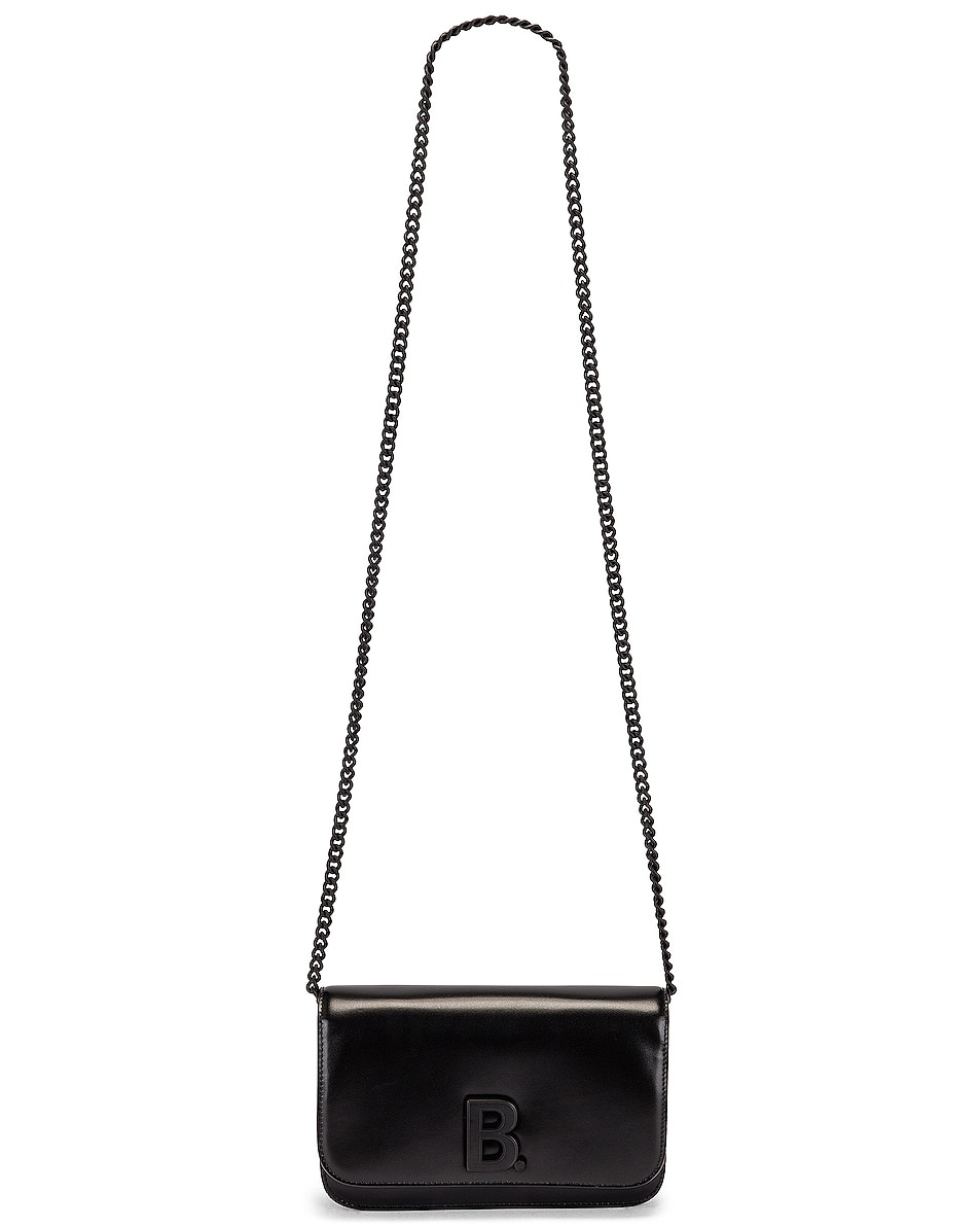 Image 6 of Balenciaga B Wallet on Chain Bag in Black