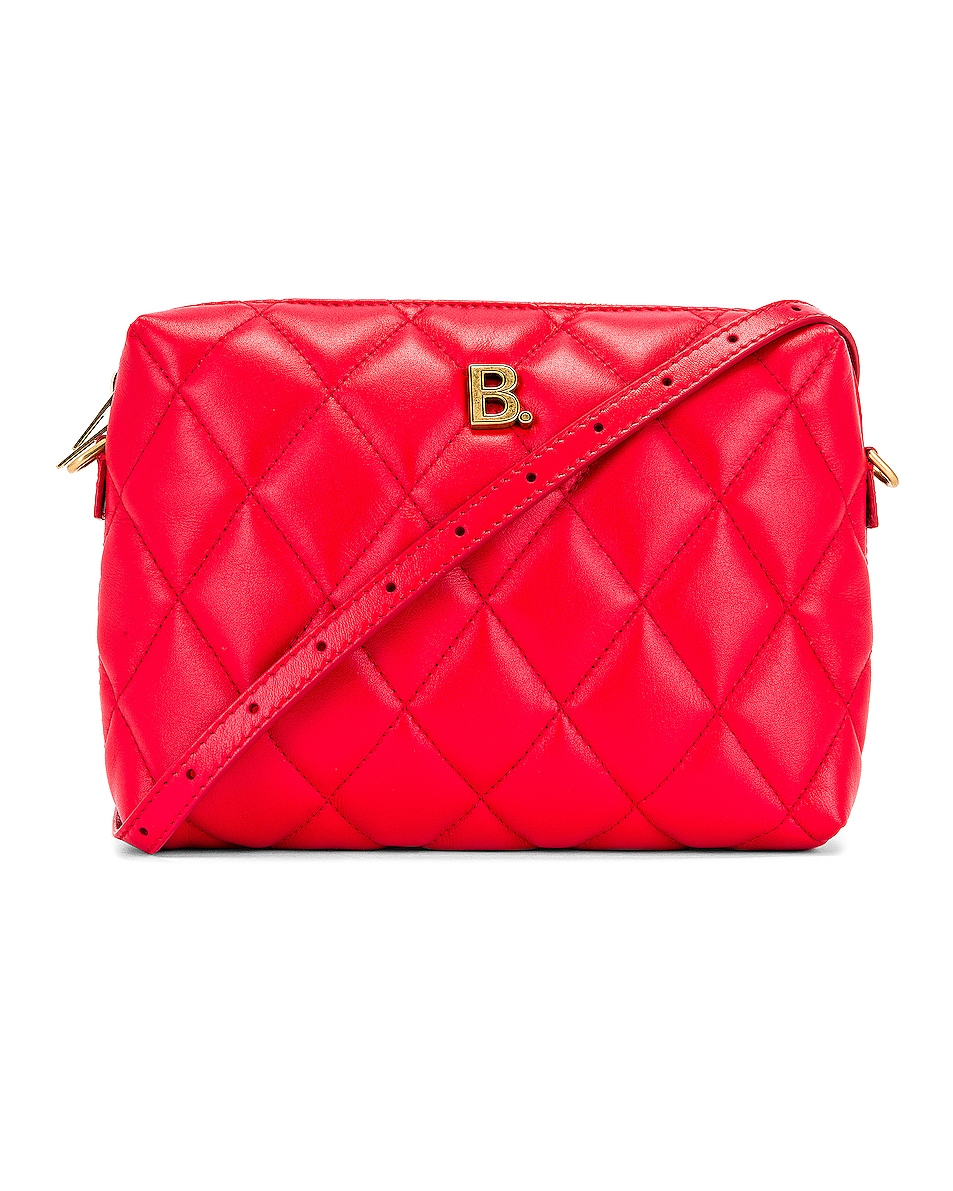 Image 1 of Balenciaga B Quilted Leather Camera Bag in Bright Red