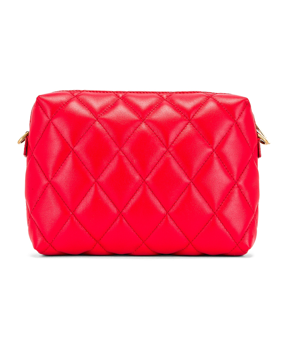 Image 3 of Balenciaga B Quilted Leather Camera Bag in Bright Red