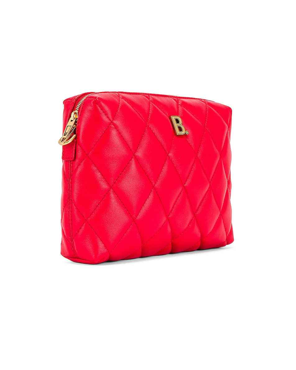 Image 4 of Balenciaga B Quilted Leather Camera Bag in Bright Red