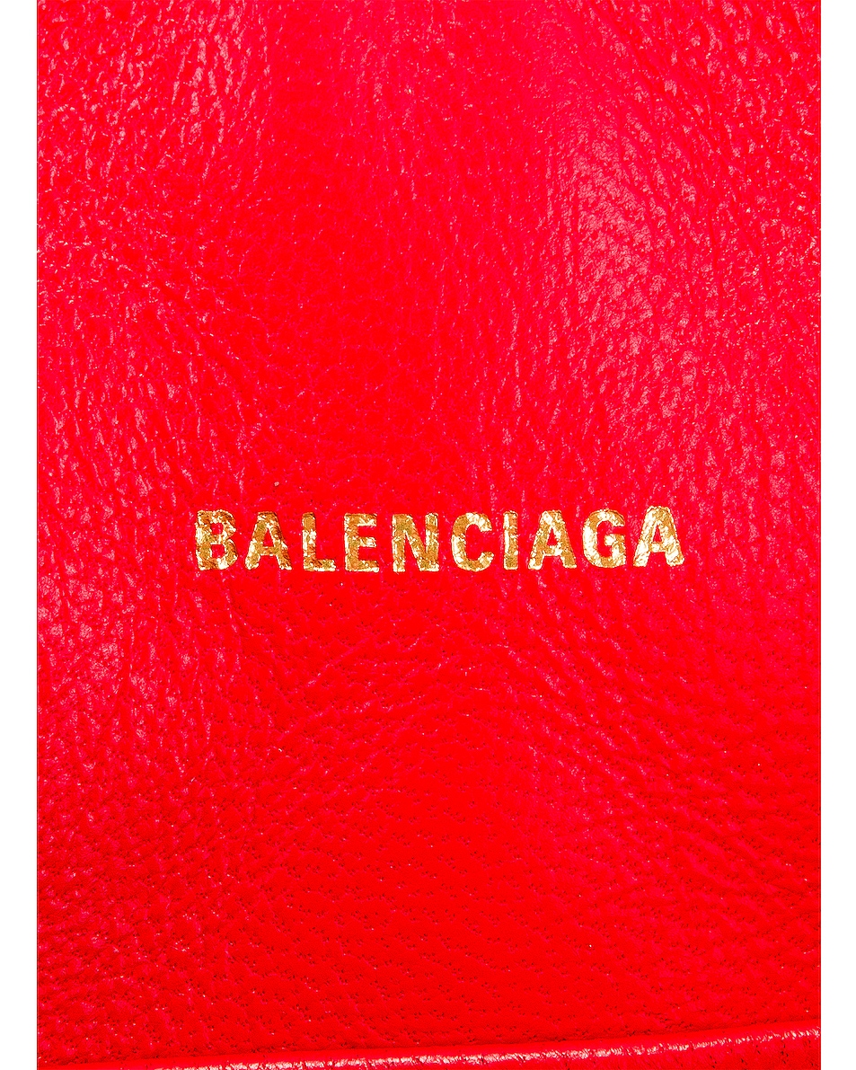 Image 7 of Balenciaga B Quilted Leather Camera Bag in Bright Red