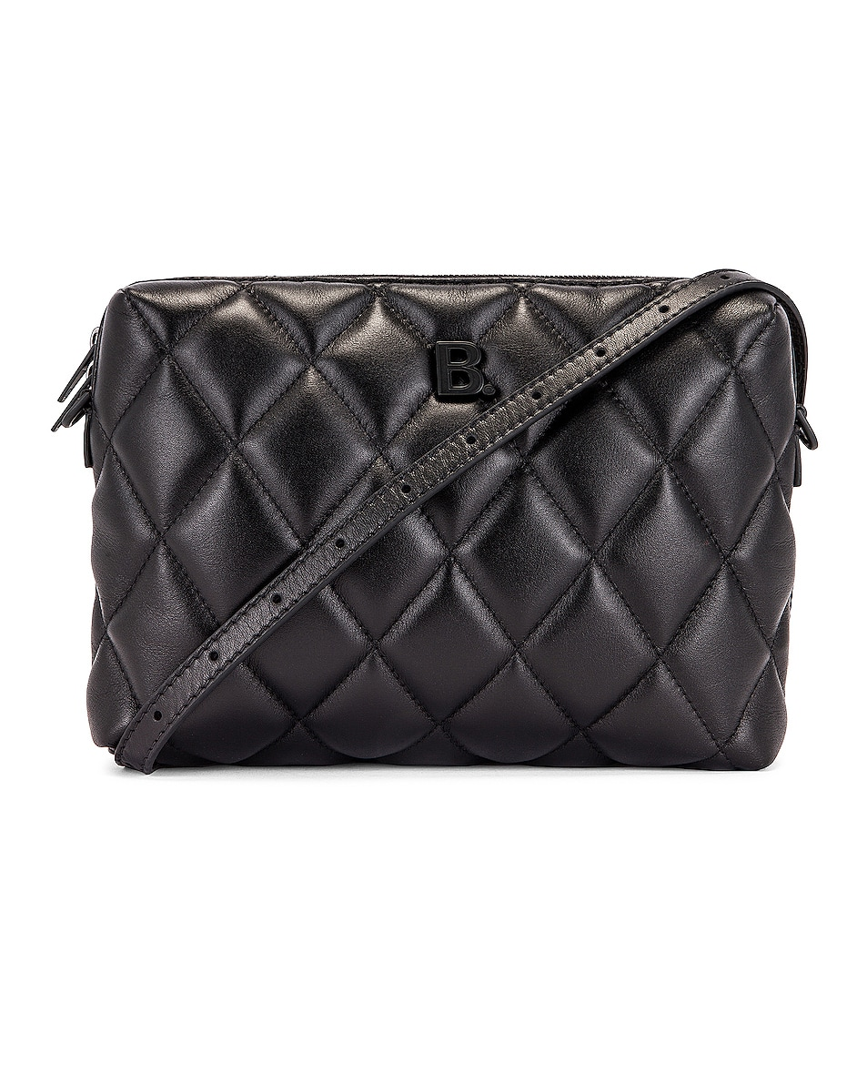 Image 1 of Balenciaga B Quilted Leather Camera Bag in Black