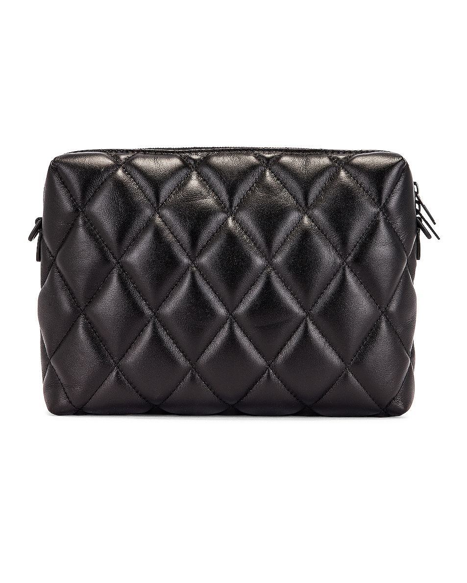 Image 3 of Balenciaga B Quilted Leather Camera Bag in Black