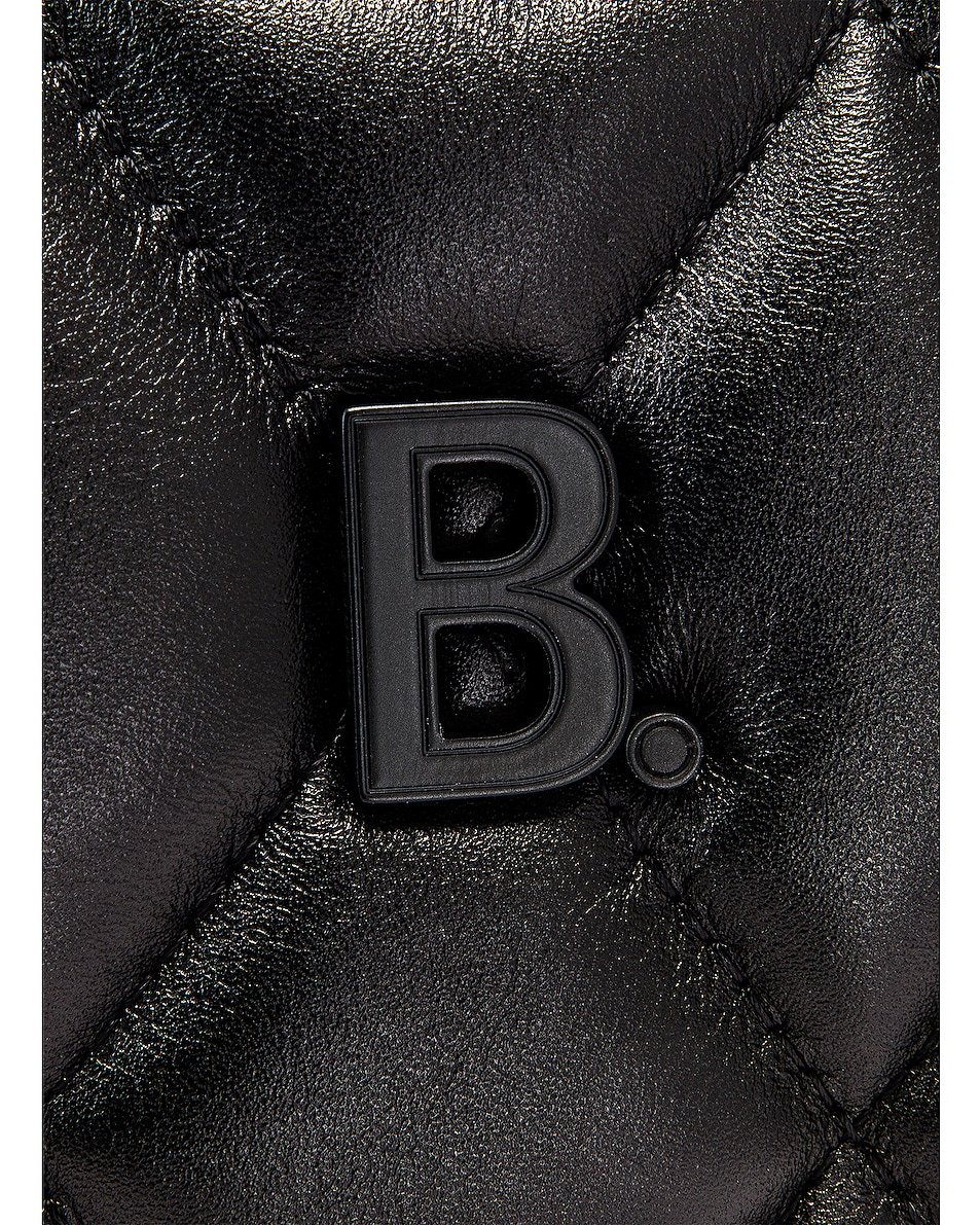 Image 8 of Balenciaga B Quilted Leather Camera Bag in Black