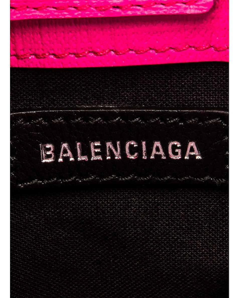 Image 7 of Balenciaga Shop Phone Holder Bag in Acid Fuchsia
