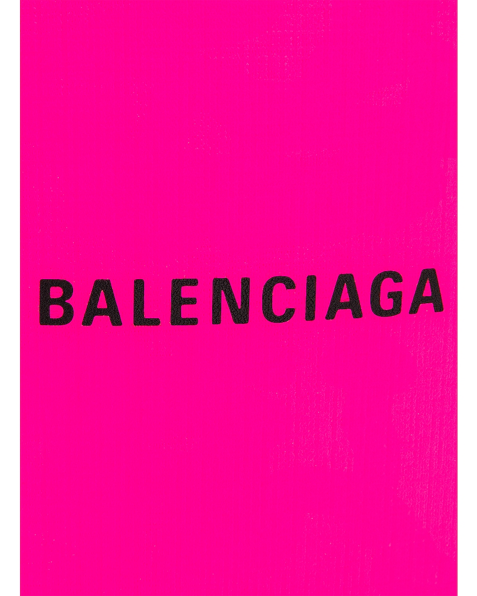 Image 8 of Balenciaga Shop Phone Holder Bag in Acid Fuchsia