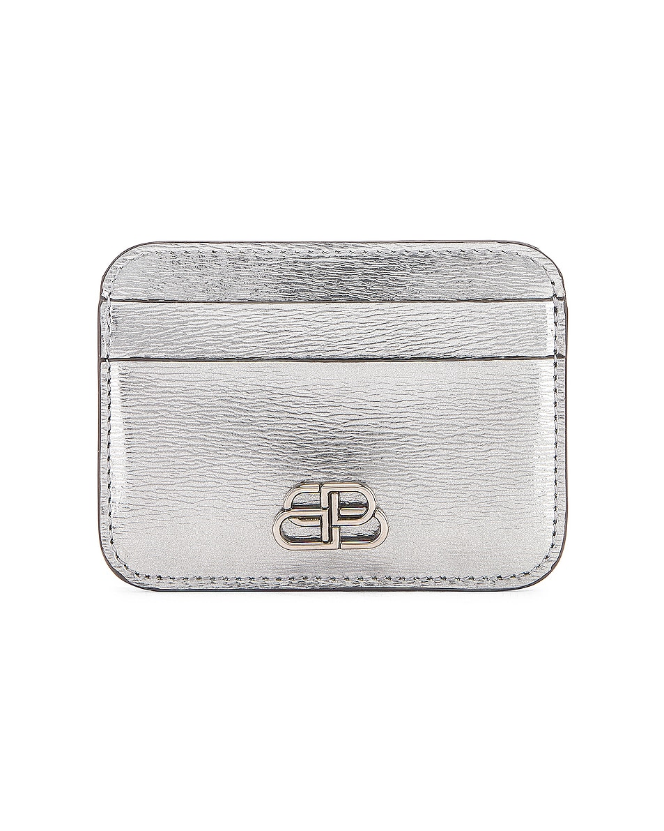 Image 1 of Balenciaga BB Card Holder in Silver