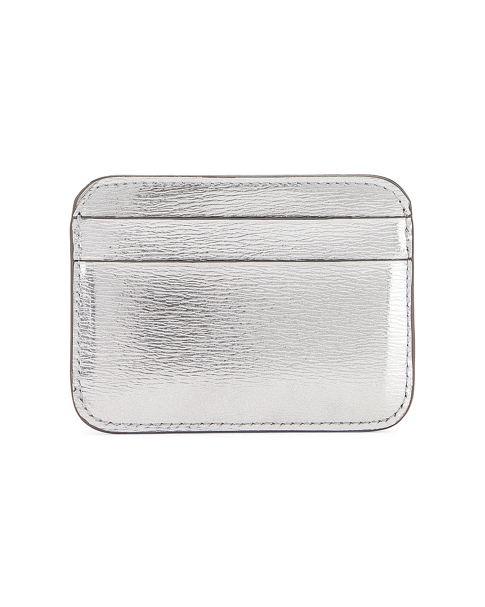 Image 2 of Balenciaga BB Card Holder in Silver