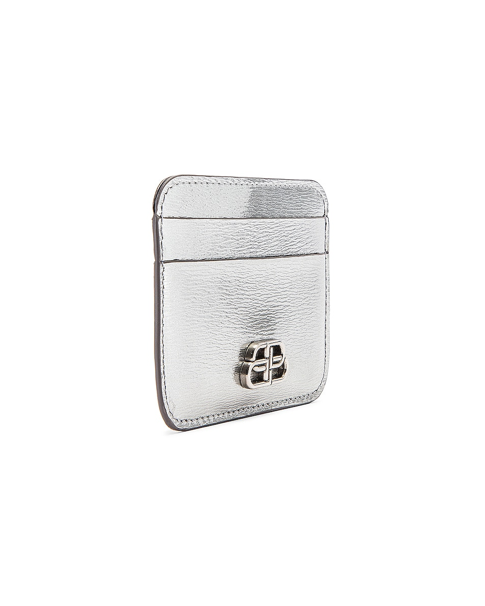 Image 3 of Balenciaga BB Card Holder in Silver