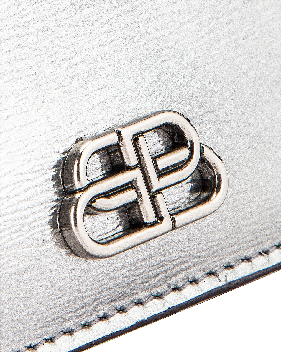 Image 5 of Balenciaga BB Card Holder in Silver